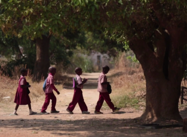 Children going to school in Zambia, where 2013 ONE Award Finalist ZOCS is working to provide a quality education for all.  Photo: ONE